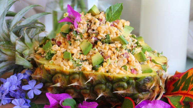 How To Make a Healthy Pineapple Fried Rice