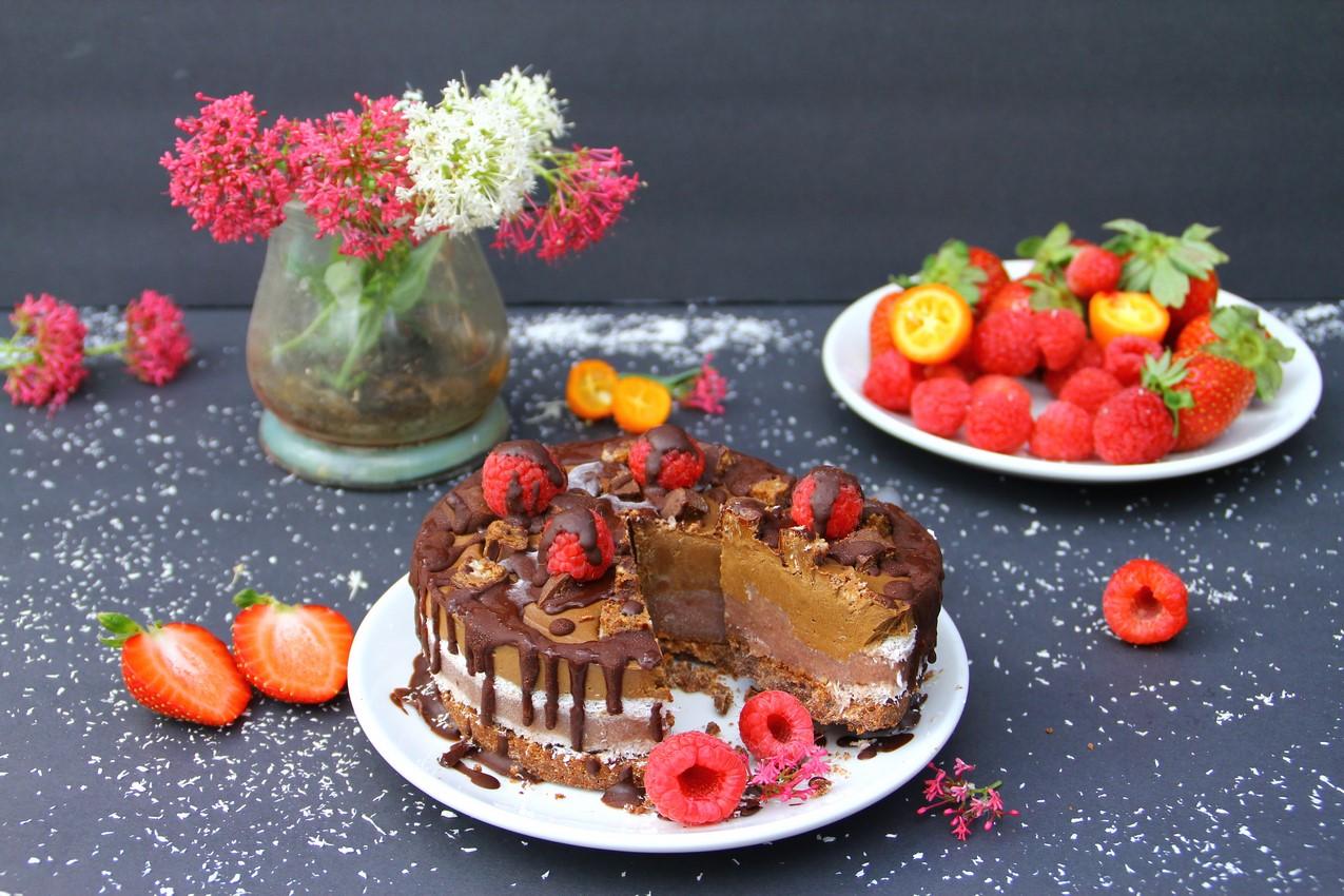 delicious Raw Neapolitan Cake