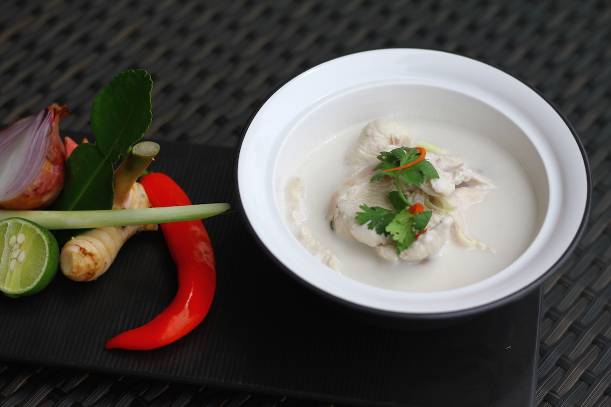 Allergy Free Tom Kha Gai from the Chefs at Intercontinental Ko Samui