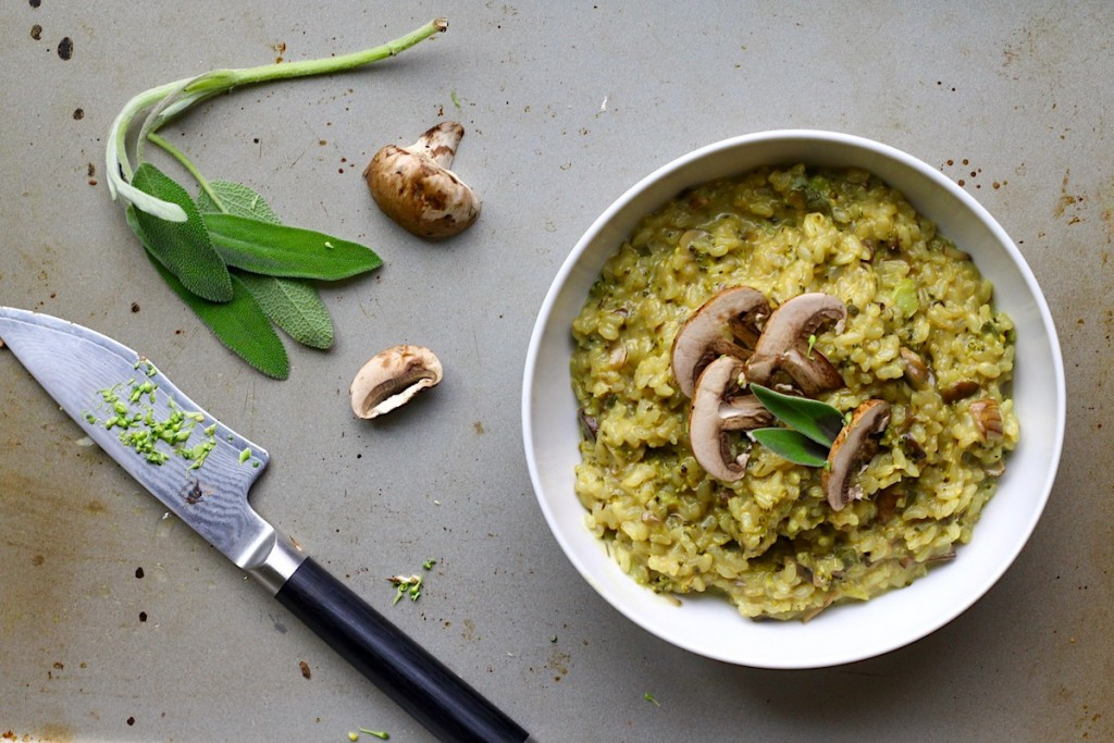 Broccoli & Mushroom Risotto (Dairy & Gluten Free)