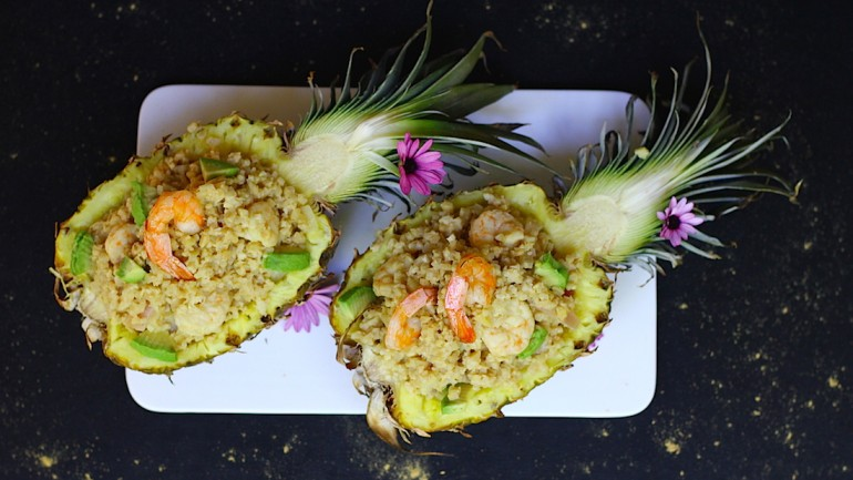 Grain Free Pineapple Fried Rice (GF, Paleo, AIP)