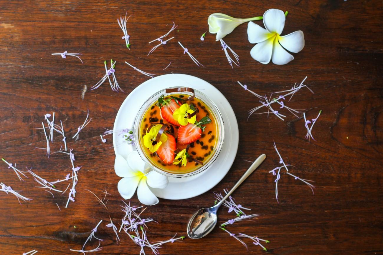 Passion Fruit Panna Cotta Decoration