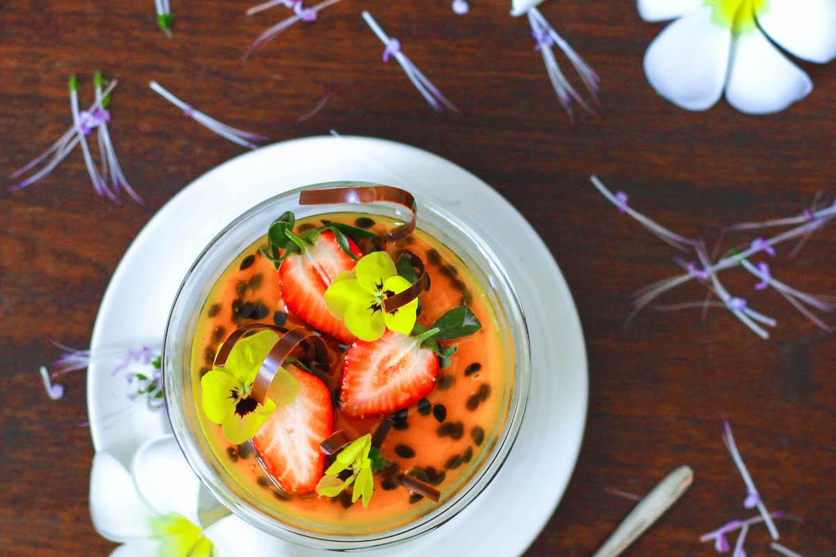 Passion Fruit Panna Cotta from the Chef at Grand Hyatt Bangkok (GF, DF, Paleo, AIP)