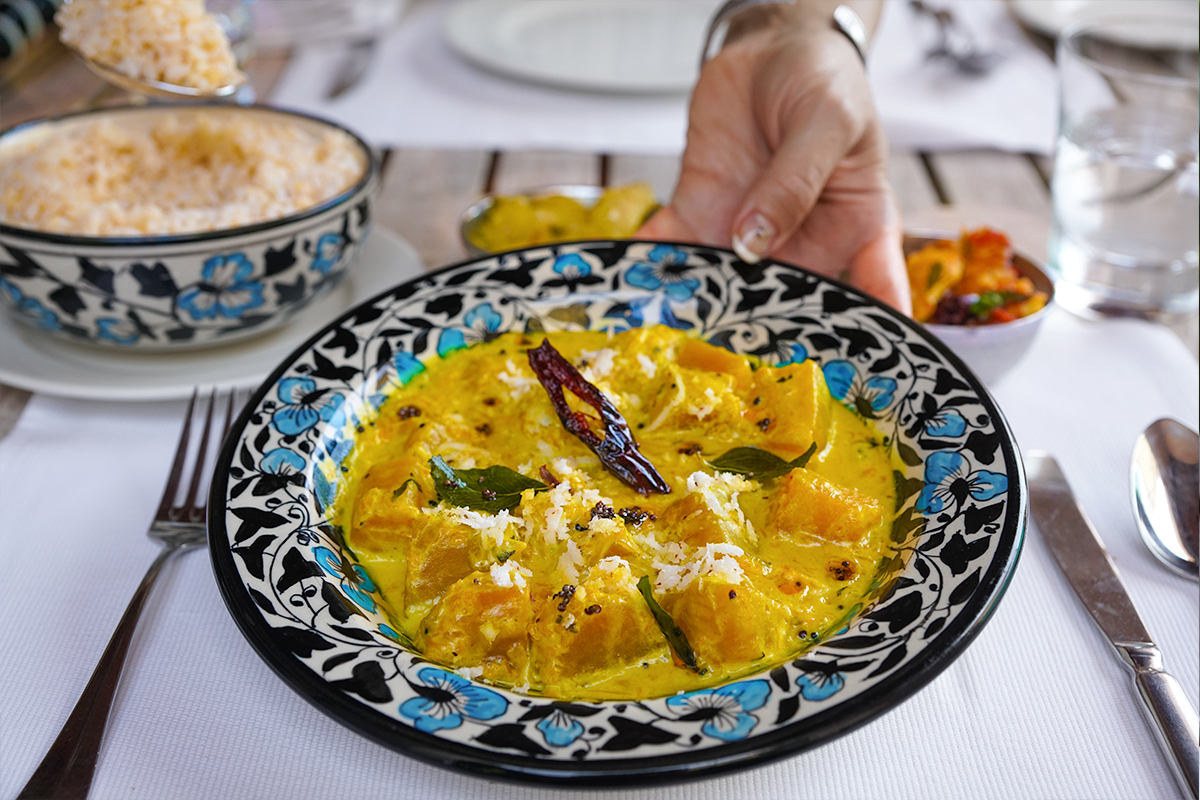 Indian Style Pumpkin Curry from the Chef at Park Hyatt Goa (GF, DF, Paleo, AIP*)