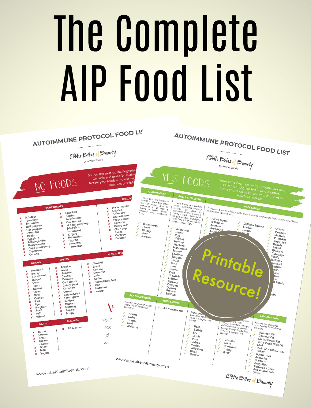 No Grain Diet Food List