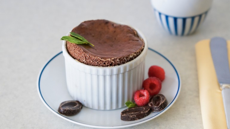 Paleo Chocolate Soufflé (Dairy & Gluten Free) from the Chef at Montage Beverly Hills