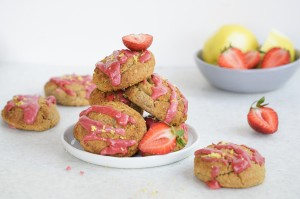 Paleo Gluten Free Strawberry Lemon Scones (Dairy & Grain Free)