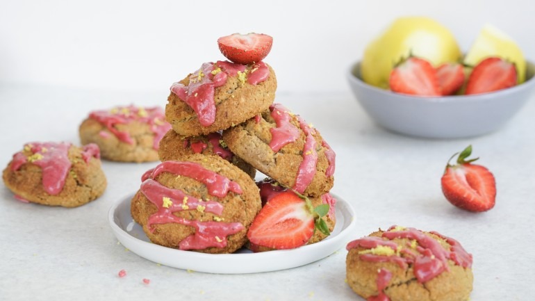 Paleo Gluten Free Strawberry Lemon Scones