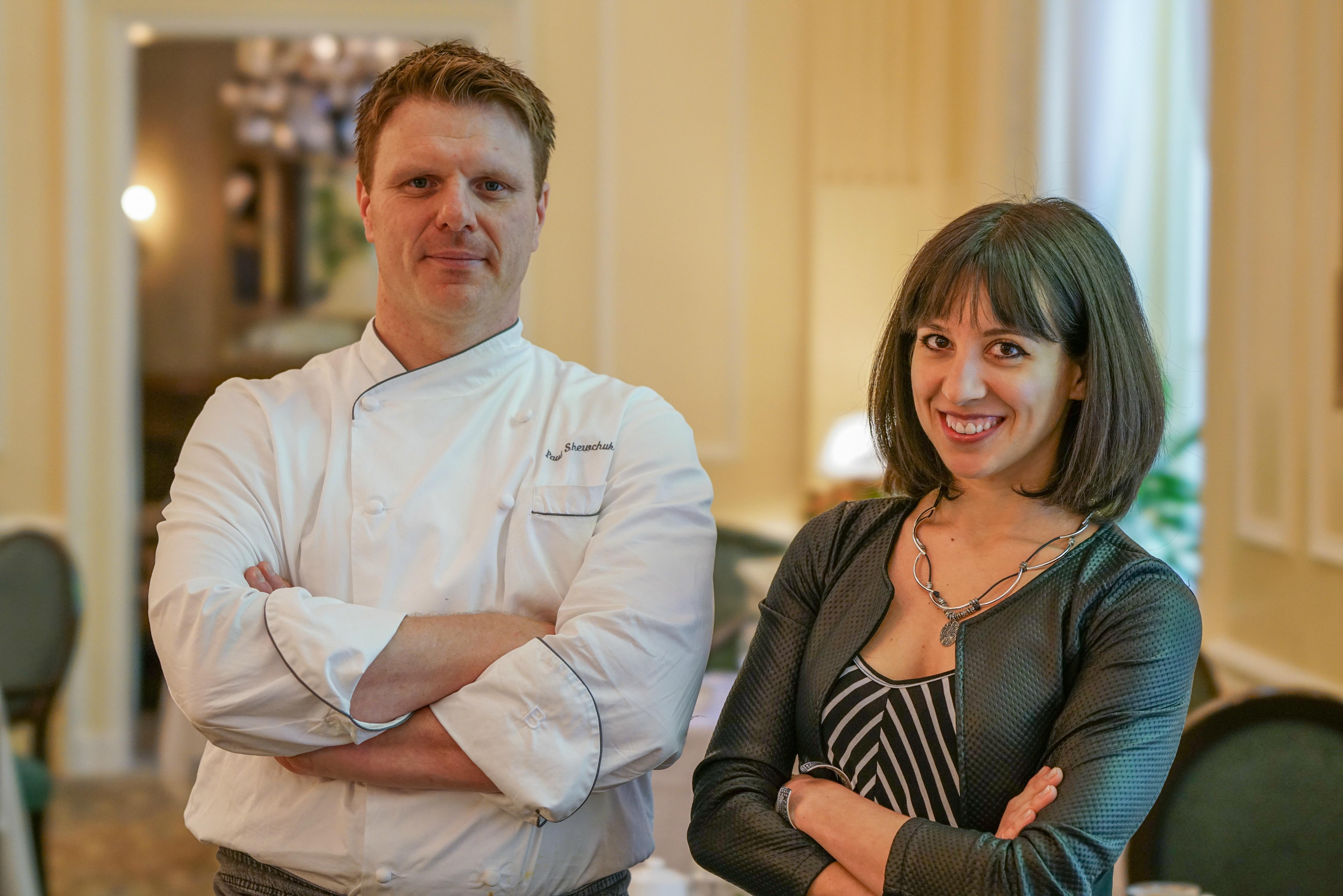 Ambra Torelli & Chef Paul Shewchuk