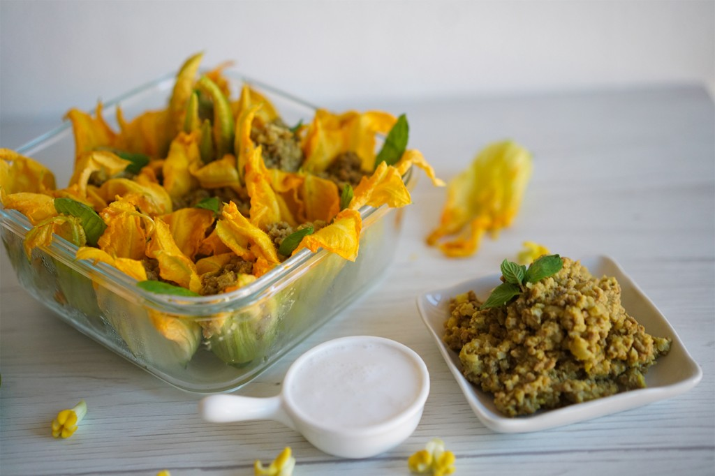 Baked Stuffed Squash Blossoms (GF, Paleo, AIP)