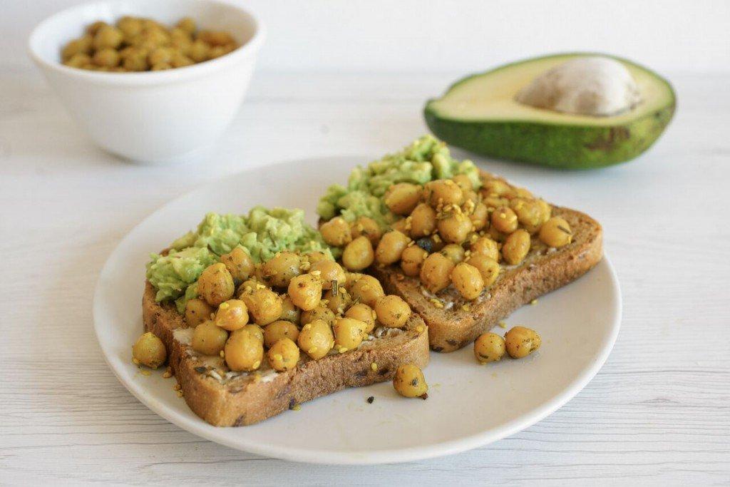 Chickpea Avocado Toast with Turmeric (Dairy & Gluten Free)