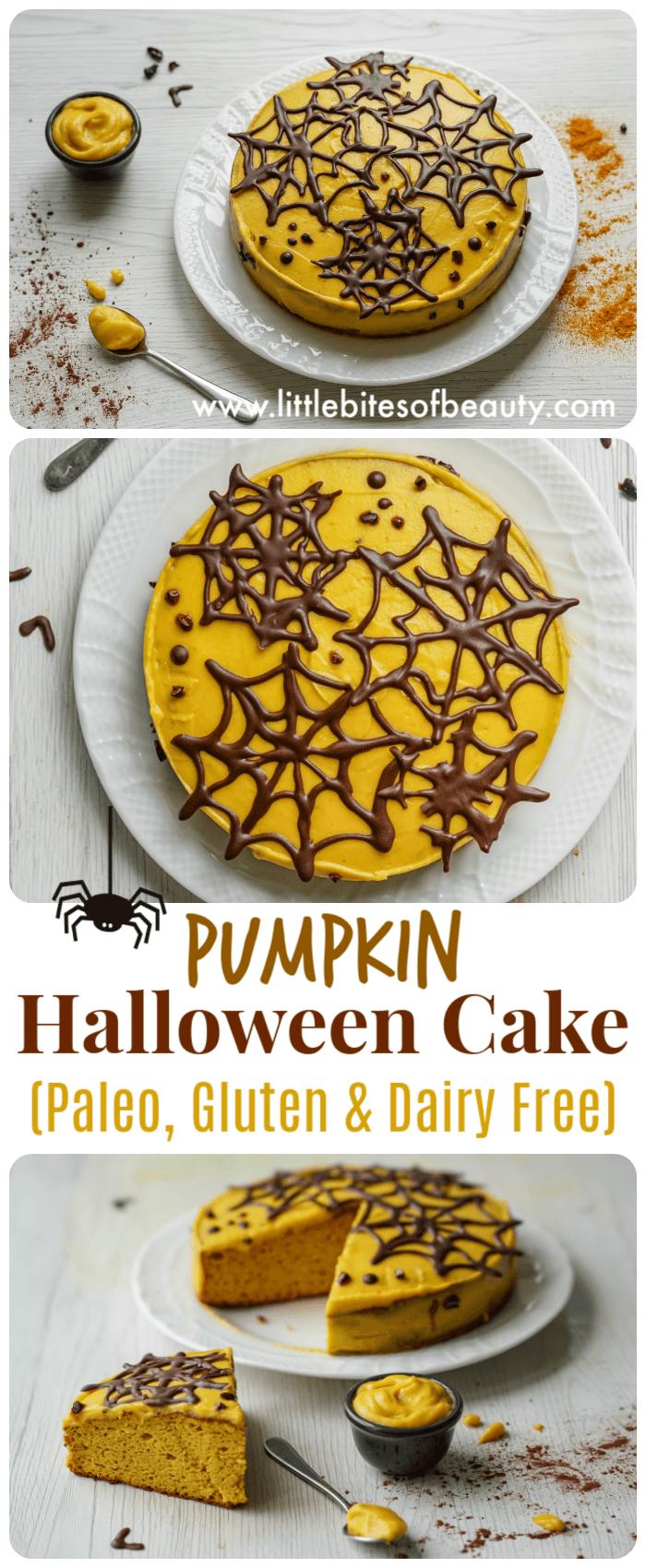 Pumpkin Paleo Halloween Cake (Dairy and Gluten Free)