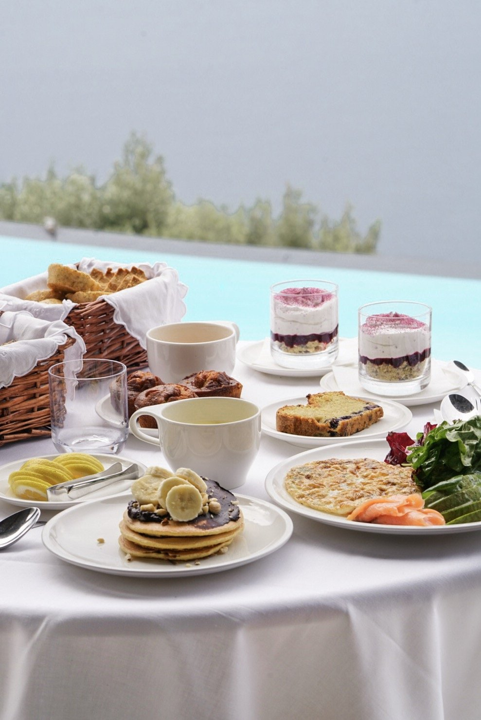 Breakfast at Perivolas, Santorini