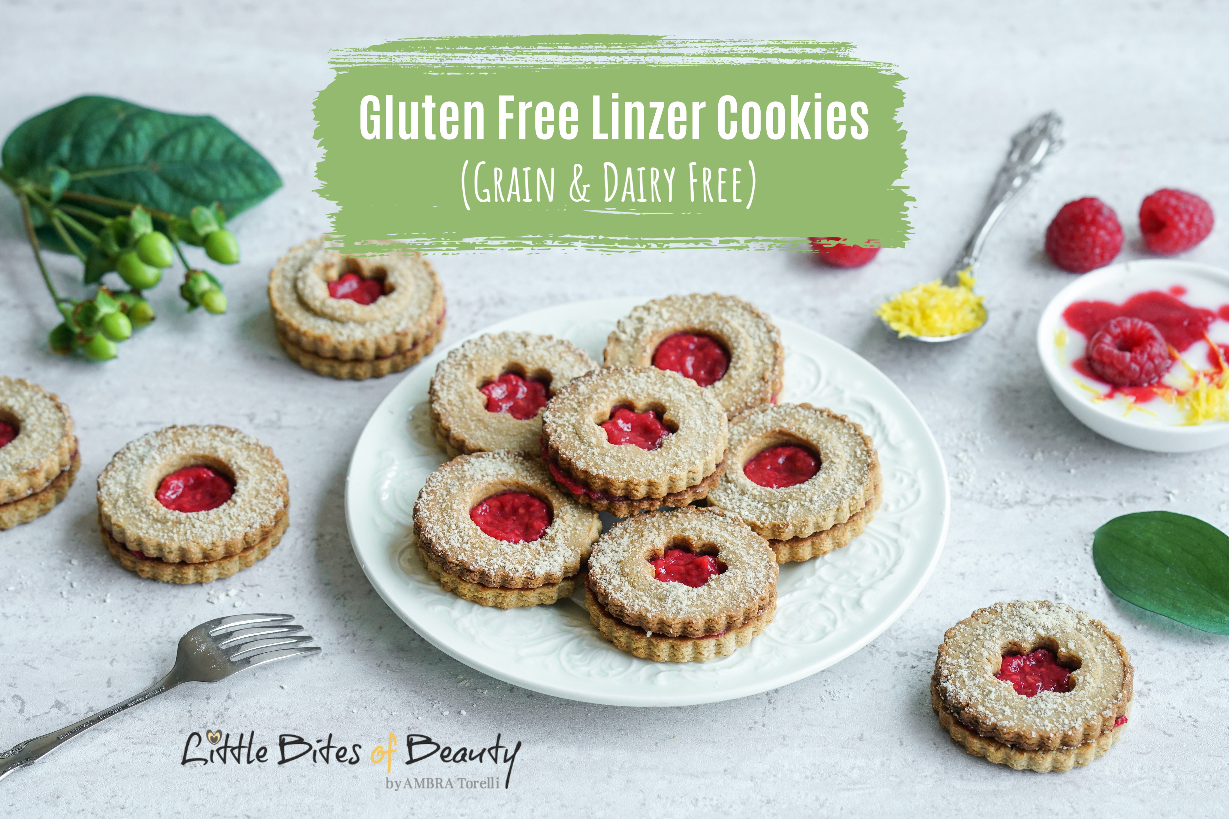 Gluten Free Linzer Cookies (Grain & Dairy Free)