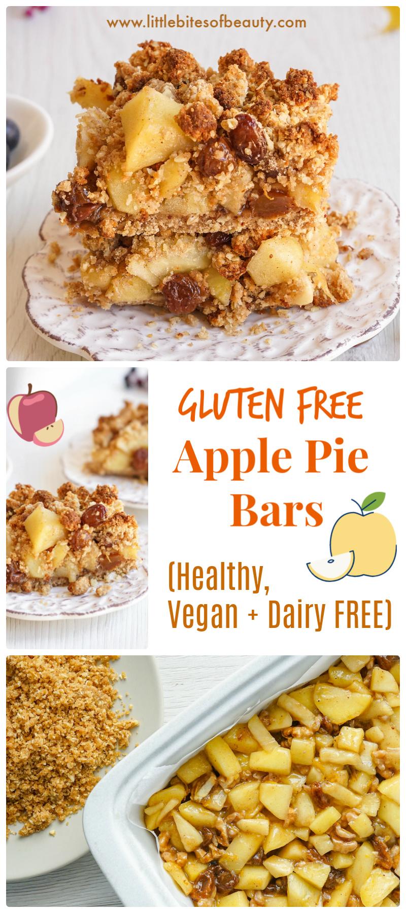 Gluten Free Apple Pie Bars (Dairy Free & Vegan)