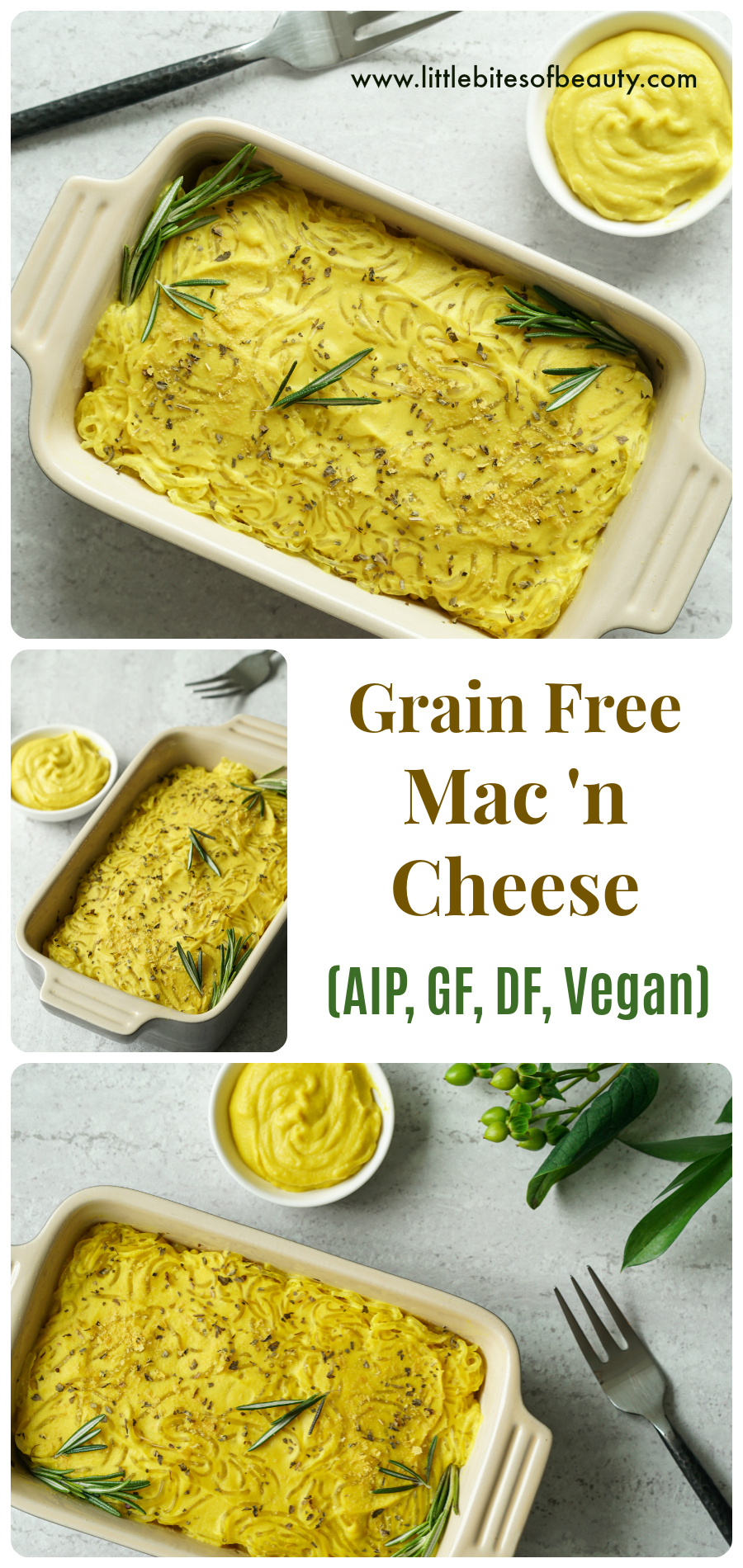 Grain Free Mac and Cheese (AIP, GF, DF, Vegan)
