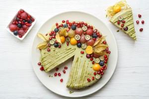 Vegan Gluten Free Almond Cake with Matcha Glaze 1