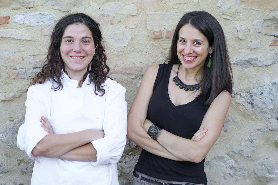 Ambra Torelli with Chef Stefania from Agrivilla I Pini, Tuscany