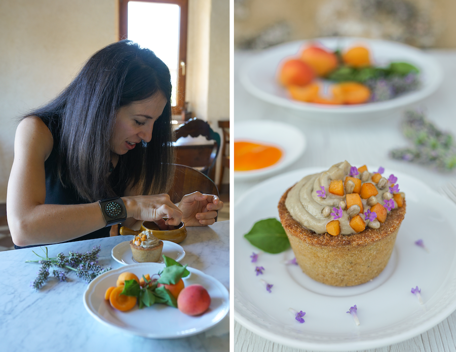 Gluten Free Sorghum Tartlets with a Sunflower Seed CremCream from the Agrivilla I Pini, Tuscany