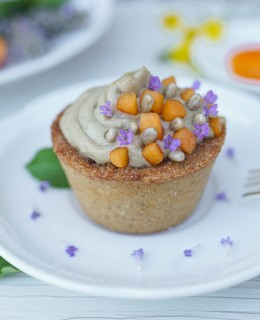 Gluten Free Sorghum Tartlets with a Sunflower Seed CremCream from the Agrivilla I Pini, Tuscany 1