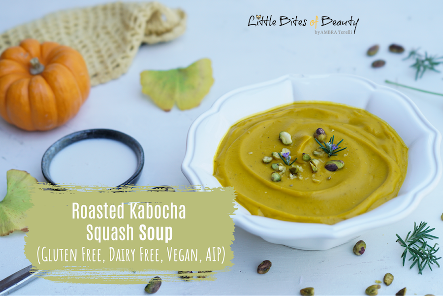 Roasted Kabocha Squash Soup - Gluten Free, Dairy Free, Vegan, AIP 1