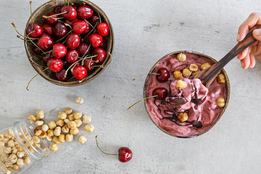 Healthy Cherry & Chocolate Chip Ice Cream